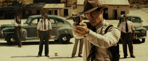 Josh Brolin y su equipo de Gangster Squad