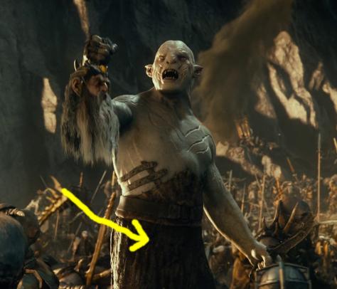 cara de belmez en el hobbit 1